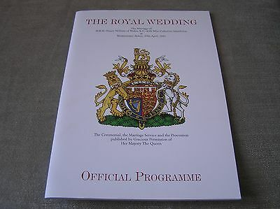 Royal Wedding Official Programme 0f William and Kate plus stamp pack