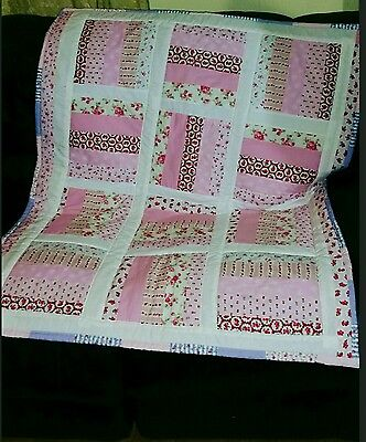 Handmade Baby Quilt, Cot, Crib,  Throw,  Play mat.