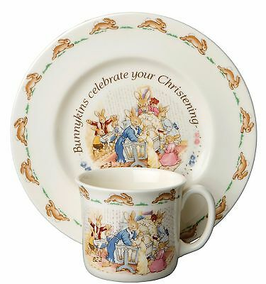 NEW Royal Doulton  Christening 2 Piece Baby Set - Great Gift Great Price