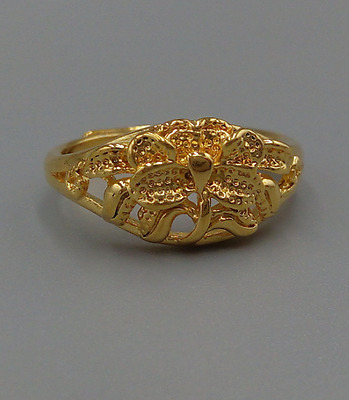 100% Genuine Solid 14K Yellow Gold Girl's Ring Gold Jewelry