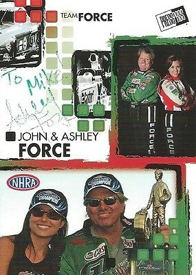 Ashley Force Autographed Signed 2005 Press Pass Racing Nhra Photo Trading Card
