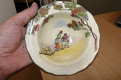 """Royal Doulton - English Old Scenes -  The Gleaners - 6.5"""" Edged Bowl."""