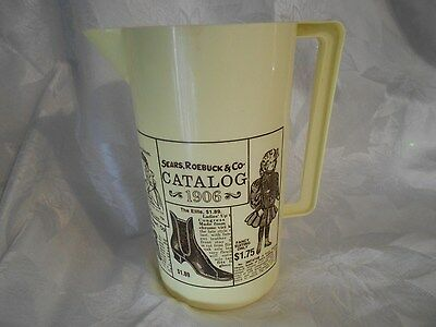 Vintage Sears Roebuck & Co. Promotional Plastic 1906 Pitcher