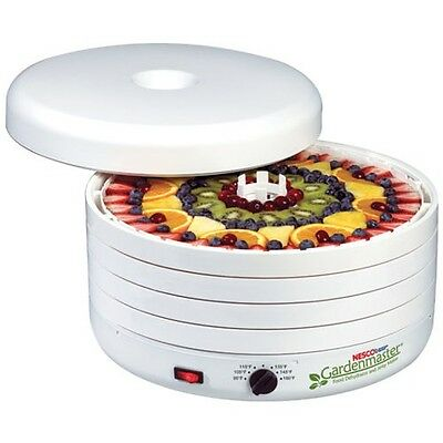 Gardenmaster Dehydrator Jerky Maker 4 Tray with Herb  and Fruit Leather Screen