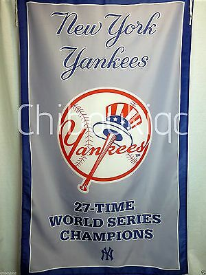 New York Yankees LARGE 3x5 World Series Champions banner flag poster