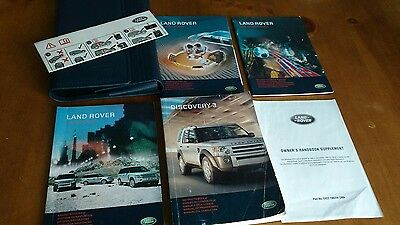 Land Rover Discovery 3 Handbook Owners Manual Sat Nav Book 2007