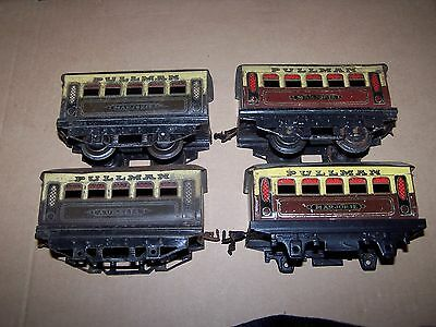 Four Hornby O Gauge Pullman Coaches.
