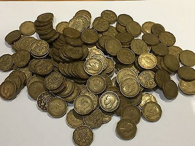 Bulk Lot 150 Plus George Vi And Some Elizabeth Ii Brass Threepence Coins