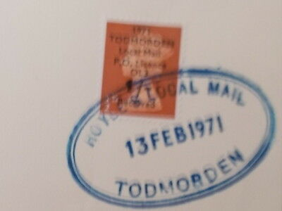 Hoyles of Todmorden 1971 strike cover unused