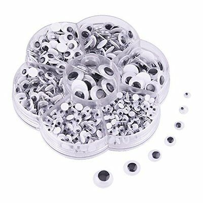 200 Googly Eyes Wiggly Wobbly 6mm 8mm 10mm 12mm 14mm 15mm 16mm Self Adhesive Art