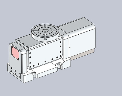 CNC Plans 9 inch 5 Axis CNC Rotary Table for Bridgeport and Haas cnc Mills