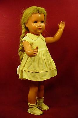 """Cute Vintage 16"""" Turtle Mark Doll With Real Hair Wig & Original Outfit 4 Repair"""