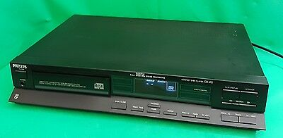 Vintage 80s PHILIPS CD472 CD PLAYER (d1)