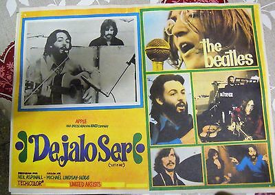"""The Beatles:ultra Rare Mexican Lobby Card """"let It Be""""-"""