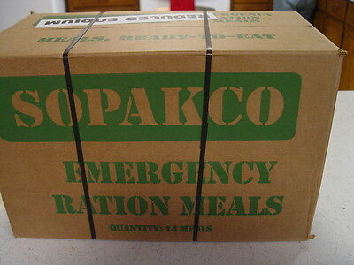 MRE Emergency Survival Military Ration Food 1 Case 14 Meals low sodium