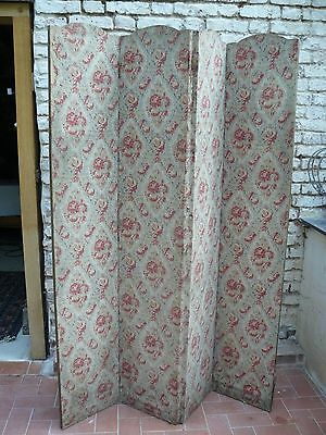 Vintage Dressing Privacy Screen With Vintage Rose Patterned Chintz Fabric