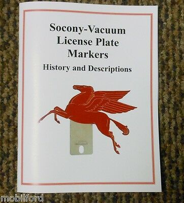 Booklet Socony-Vacuum License Plate Markers