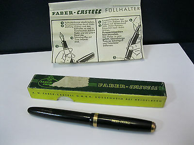 """Vintage """"Faber Castell 663"""" Fountain Pen 14K KM Nib-Made in Germany 1960s"""