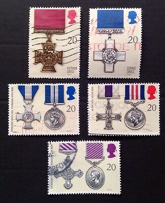 COMMONWEALTH - GB 1990 GALLANTRY AWARDS  Set (5) Used Stamps