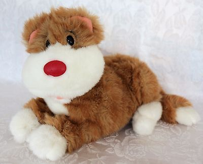 """Vintage 1995 Big Comfy Couch 12"""" Plush SNICKLEFRITZ Cat Stuffed Animal Tabby"""