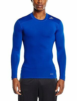 Adidas Techfit Long Sleeve Compression Baselayer Top  COLLEGIATE ROYAL   NEW.