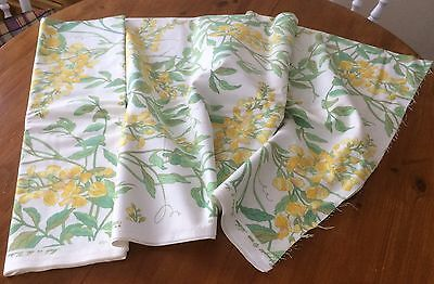 "Vintage fabric remnant large by Arthur Sanderson and sons 1989 ""Wisteria"""