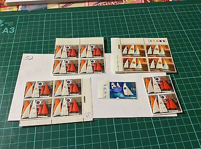Great Britain 1975 Sailing Stamp Block MNH Unfolded (52)