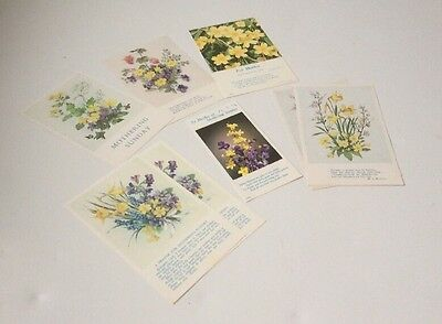 Vintage Religious Mothering Sunday Prayer Cards