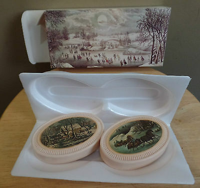 """Vintage """"WINTER SCAPES"""" 2 AVON Special Occasion Fragranced SOAPS Bars with BOX"""