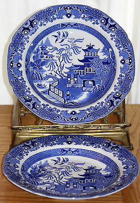 Vintage Burleigh Ware Willow Pattern Bowls x 2