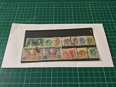 Nice Collection of Hong Kong stamps George VI used (391)