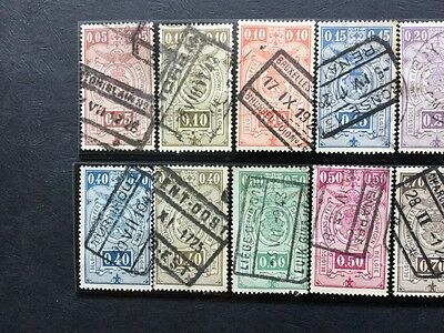 Belgium Railway Stamps 15 Used Stamps