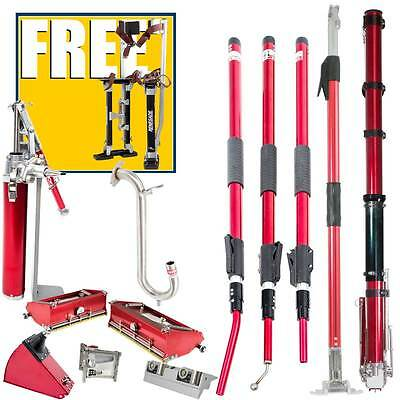 Level5 Full Drywall Taping/Finishing Set with Extendable Handles and Free Stilts