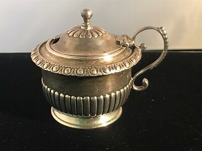 Antique Sterling Silver Salt Bowl by Moses Brent, KING GEORGE III Duty Mark