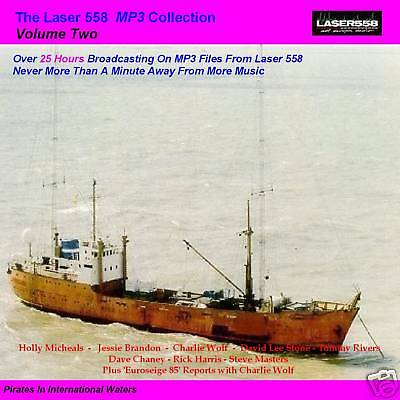 Pirate Radio-Laser 558 VOLUME 2 Over 25 Hours MP3 Files on MP3 DVD Disc