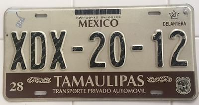2000s TAMAULIPAS MEXICO LICENSE PLATE [XDX-20-12]