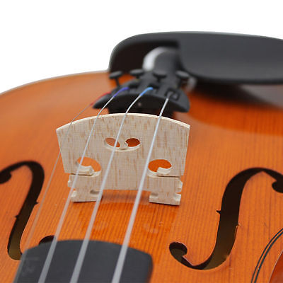 Professional Full Size Acoustic 4/4 Violin Bridge  - Quality Crafted Maple