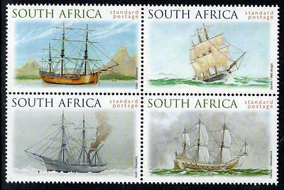 SOUTH AFRICA MNH 1999 Famous Ships Block of 4