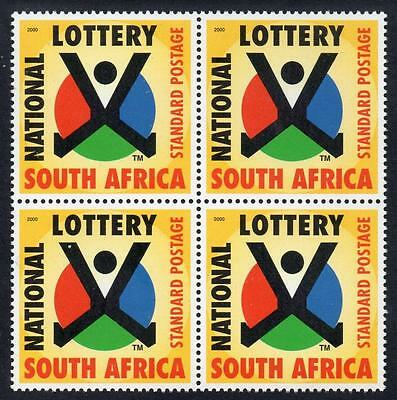 SOUTH AFRICA MNH 2000 1st National Lottery Block of 4