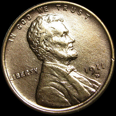 1911-D Lincoln Cent Wheat Penny ---- STUNNING DETAILS ---- #D248