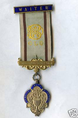 Vintage 1954 Waiter's Badge (Ambitious Lodge # 6) 20.7 Grams. Medal 28mm x 39mm