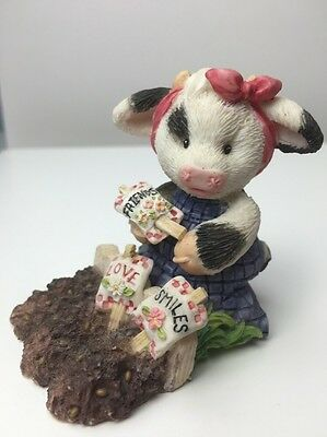 Mary's Moo Moos Sowing The Seeds Of Friendship Figurine 1996