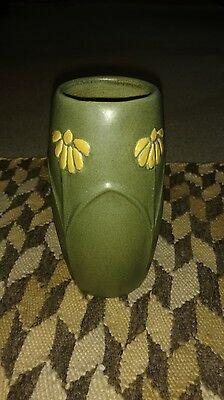 Grueby Style Green Matte Arts And Crafts Vase