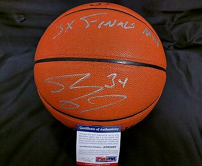 RARE Shaquille Shaq O'Neal Signed Basketball Autographed PSA/DNA '3X Finals MVP'