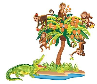 5 Monkeys Sitting in a Tree felt figures flannel board stories