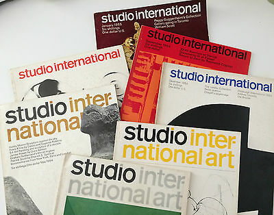 7 x Studio International Magazine 1964 - 1965 Vintage Original