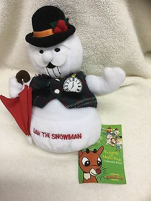 Rudolph the Red Nosed Reindeer Misfit Sam The Snowman w Umbrella Plush LE NWT