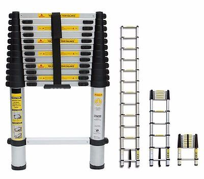 New 12.5Ft Telescopic Aluminium Folding Multi Purpose Extending Step Ladder