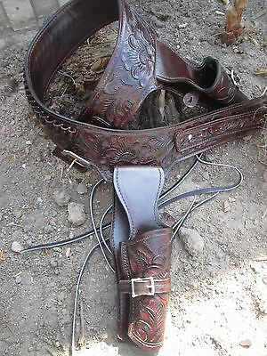 D.A.D Custom  Leather Fully Hand Tooled Western Holster Double Fast Draw