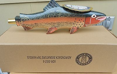 Adk Adirondack Brewery Peanut Butter Porter Figural Trout Beer Tap Handle New Ny